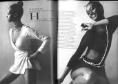 The Princess on one of the International Fashion Magazines.